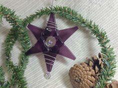 HANDMADE Fused Glass Star / Medium Purple Ornament / Suncatcher / Wedding Decoration by IntheShadeoftheSycamoreTree for $12.00