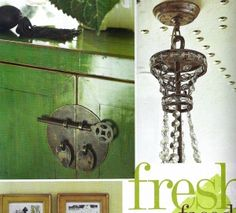 and as seen in an article on Designer Kat Burki.again, gotta love that green. Wall Lights, Social Media, Antiques, Green, Photos, Inspiration, Design, Home Decor, Homemade Home Decor
