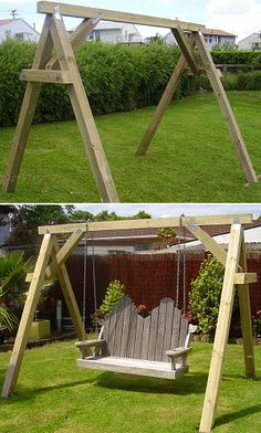 bench swing supporting frame