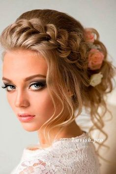 Hairstyles for Braids with Flowers picture1 #weddinghairstyles