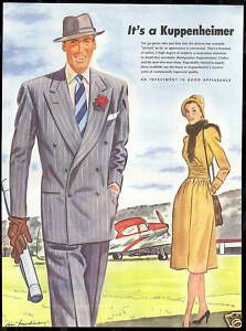 vintage ads mens fashion | ... Kuppenheimer Mens Fashion Private Airplane Vintage Print Ad | eBay