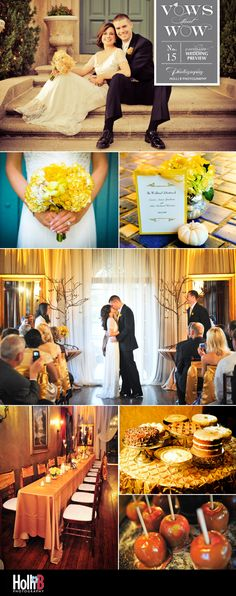 Beautiful fall Oklahoma wedding at Dresser Mansion with sunny florals from Mershon Events.   Photos by Holli B Photography