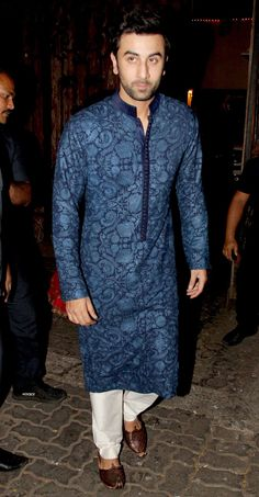 Ranbir Kapoor at Anil Kapoor's #Diwali bash. #Bollywood #Fashion #Style #Handsome #Desi