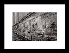 Fountain in perspective Framed Print by Roberto Pagani Wall Art For Sale, Hanging Wire, My Works, Fine Art America, Fountain, Perspective, Framed Prints, Painting, Painting Art