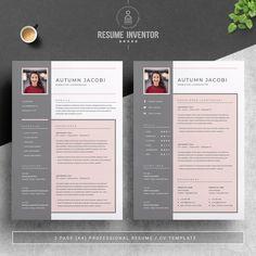Resume Template 3 Page CV Template Cover Letter / Instant | Etsy Resume Cv, Resume Design, Branding Design, Cover Letter Template, Letter Templates, Resume Template Free, Free Resume, Great Resumes, Create A Resume