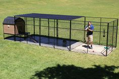 Foot tall Dog Kennel With Large Dog house. The Tall dog kennel allows for . , Foot tall Dog Kennel With Large Dog house. The Tall dog kennel allows for … , K9 Kennels, Cheap Dog Kennels, Large Dog Breeds, Large Dogs, Large Dog Pen, Small Breed, Cheap Dog Cages, Metal Dog Kennel, Outdoor Dog Kennel