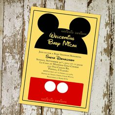 Unique Ideas For Mickey Mouse Baby Shower Invitations Modern Designs