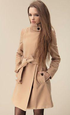 Camel Wool-blend Coat