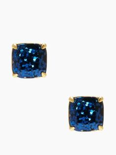 kate spade small square studs - kate spade new york. This color, navy, turquoise, jet black, green multi