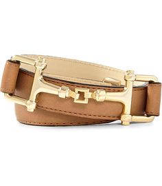 "If your budget doesn't included Gucci, the Reiss ""Weller"" has a similar look with this horse bit buckle"
