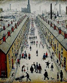 Whit Week Procession, 1937 by L S Lowry Art Bin, English Artists, British Artists, Nostalgic Art, Sense Of Place, Great Paintings, Impressionist Art, Famous Art, Office Art