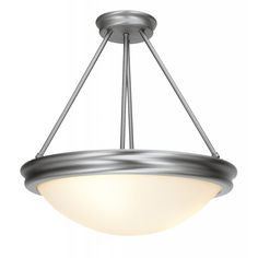 Atom Semi-Flush or Pendant (Brushed Steel or Oil-Rubbed Bronze) by Access Lighting