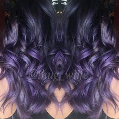 Purple balayage by me