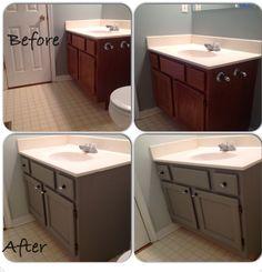 Photo Gallery In Website Painted bathroom vanity