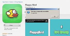 Bye Bye Flappy Bird -- popular game grounded by its creator. Flappy Bird proved to be the next Candy Crush, but its creator has removed the app from the App Store and Google Play. One day it might return...