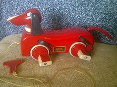 Red Dachsund Dog pre 1950's