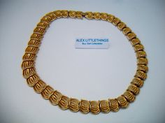 gold tone twisted rope link necklace and by ALEXLITTLETHINGS, $32.00