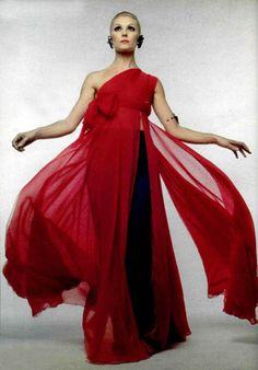 Madame Grès Evening Gown, L'officiel, 1969