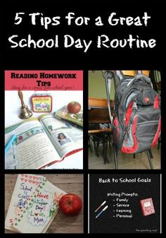 Great DIY Tips for getting organized & back into a School Day Routine!