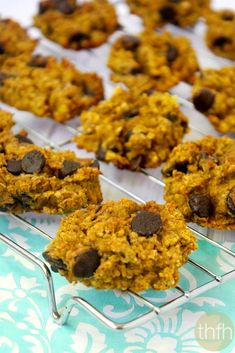 Gluten-Free Chocolate Chip Pumpkin Oatmeal Cookies...made witih clean ingredients and they're vegan, gluten-free, dairy-free, and contain no refined sugars | The Healthy Family and Home | #vegan #glutenfree #cleaneating #pumpkin #cookies