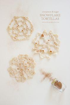 Snowflake Tortillas // Delia Creates