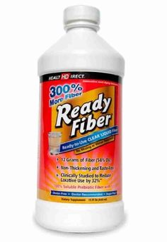 #ReadyFiber (15 fl oz) - Health Direct  Ready Fiber® is an innovative digestion-improving clear liquid #fiber #supplement. Every ounce delivers 12 grams of soluble fiber—more than most fiber supplements provide in 4 to 5 servings. Ready Fiber's® taste-free and non-thickening liquid is ready-to-use with NO mixing or water required; and it can also be added to ANY #food or beverage, hot or cold  #Digest #Body #Cleanse Read More : http://www.naturallysource.com/product_info.php?products_id=160