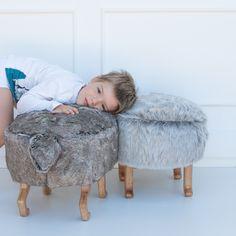 b0fe94697634 handmade custume design fluffy poufs Wolf Kids