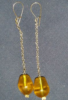 Crystal tear drops-Yellow/Pear Color by PleinDesign on Etsy