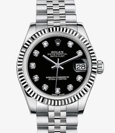 Rolex Datejust Lady 31 Watch: White Rolesor - combination of 904L steel and 18 ct white gold - 178274