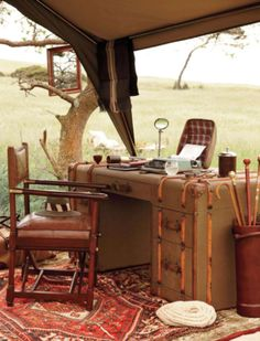 Very cool desk, makes me want to write a book.