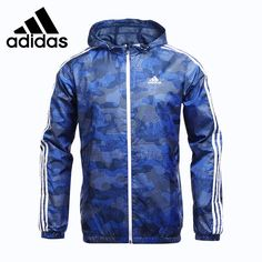 77.42$  Buy now - http://alie5c.worldwells.pw/go.php?t=32792711372 - Original New Arrival 2017 Adidas Performance WB CAMO AOP Men's jacket Hooded Sportswear