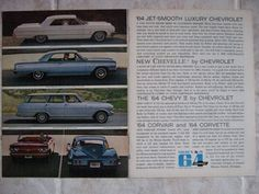 1964 Chevrolet Advertisement with 1964 Corvette 2 page