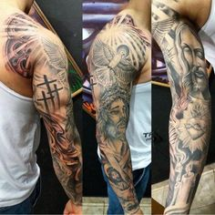 I honestly have an appreciation for the tones, outlines, and depth. This is certainly an amazing tattoo design if you really want a Bicep Tattoo Men, Inner Bicep Tattoo, Forarm Tattoos, Irezumi Tattoos, Body Art Tattoos, Tatoos, Half Sleeve Tattoos For Guys, Arm Sleeve Tattoos, Full Sleeve Tattoos