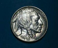 1917-D Buffalo Nickel Lustrous Gem BU and Album Toned Denver Mint Ships Free