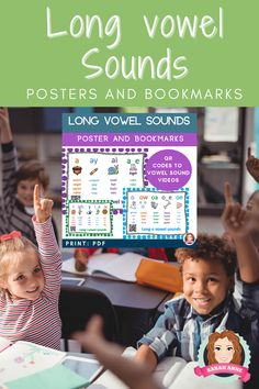 Long Vowel Sound Poster Bundle includes 28 posters and 5 bookmarks representing all long vowel sounds with picture for each sound to cater for visual learners. With additional 'çompact' set of 5 posters. Each bookmark includes all spelling patterns that makes the long vowel sound. This resource supports CCSS ELA-RF K.2, K.3, 1.2, 1.3, 2.3 Enjoy! Sarah Anne :) #tpt #sarahanne #longvowel #vowelsounds #commoncore #ELA Kindergarten Reading Activities, Reading Resources, Kindergarten Teachers, Literacy Activities, Beginning Of The School Year, 100 Days Of School, Back To School, Ccss Ela, Writing Folders