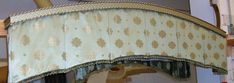 Box Pleat Valance Mounted Under Arched Cornice Board