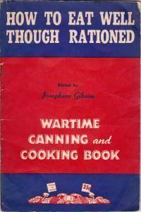 Recipes   Wartime Canada- great pdf cookbook!