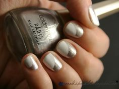 """Get a similar look with China Glaze """"Gossip over Gimlets"""" and Zoya """"Snow White"""" ;;"""