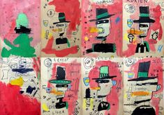 the little heads of art: May 2016 Group Art Projects, Classroom Art Projects, Art Classroom, Art Lessons For Kids, Art Lessons Elementary, Art For Kids, Classe D'art, Basquiat, Camping Crafts For Kids