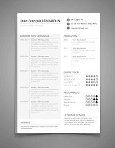 CV épuré et clair