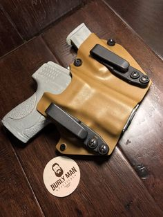 Excited to share this item from my shop: Glock 19 Kydex Holster Carbon Fiber Coyote Tan Smith And Wesson M&P Shield SideCar IWB Appendix Magazine Made in USA by Burly Man Tactical Custom Holsters, M&p Shield, Smith N Wesson, Kydex Sheath, Kydex Holster, Personal Defense, Sidecar, Tactical Gear, Carbon Fiber