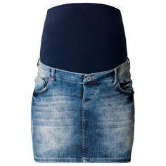 7eb362ba5d Stef Washed Denim Maternity Blue Jean Skirt - Noppies Noppies Maternity  60118C301 Washed Denim, Distressed