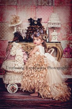 """♥Mommy\'s Little Sweetheart\"". A divine Feather Dress From Love Baby J"
