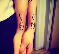 Love Infinity Matching Tattoos - 70  Lovely Matching Tattoos | Art and Design