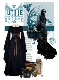 """""""Indulge Your Dark Side with Crimson Peak : Contest Entry"""" by polybaby ❤ liked on Polyvore featuring Jennifer Lopez, Cyan Design, Dot & Bo and vintage"""