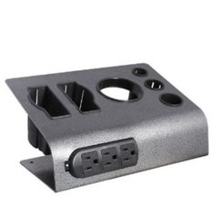 Straightener and curling iron holders with outlets