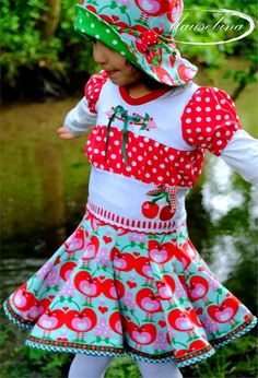 'Sommerwunderkleid' von nicole_von_fadenterror #hut von #konfettipatterns #allesfürselbermacher #nähen kinder kleider