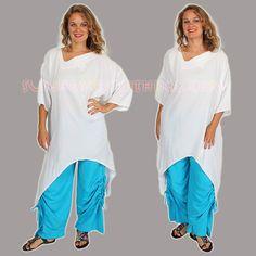 SUNHEART ZALIM Moon Hem Tunic Boho Lagenlook One Size sml medium large xl 1x 2x 3x