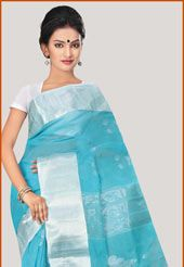 bengal cotton sarees blue - Google Search
