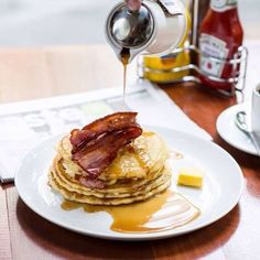 Pancakes with Maple syrup and Bacon!